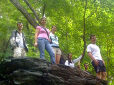 UVA's Cell and Molecular Biology Grad students on a hike in Shenandoah National park, near UVA.