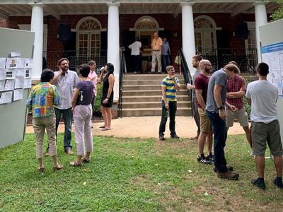 UVA Cell and Molecular Biology Poster session on the Grounds of the University of Virginia.